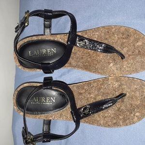 Ralph Lauren Reeta Cork Wedge Sandals